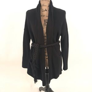 NEW Splendid Black Cardigan with rope tie